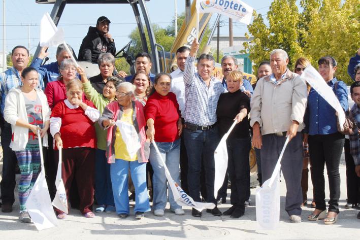 Inician pavimentación en calles de la Borja