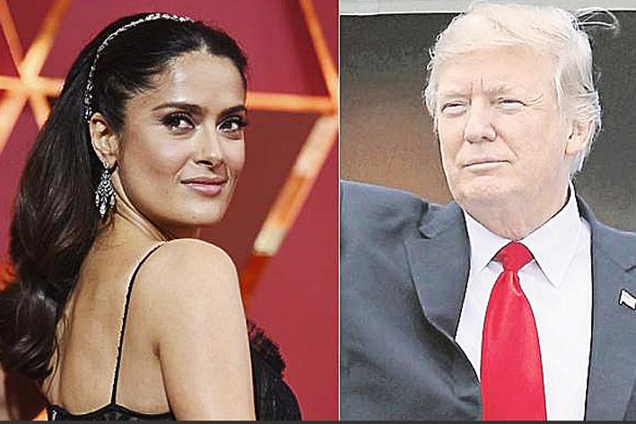 Salma Hayek recuerda cuando Trump quiso salir con ella