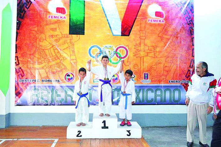 Brillan karatecas en Abierto Mexicano