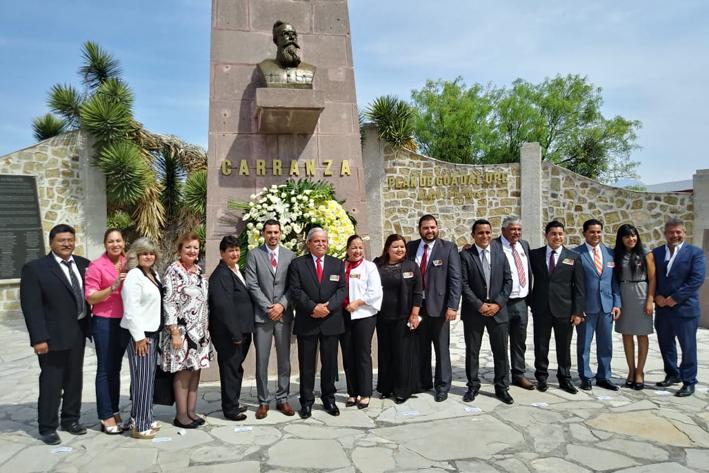 Participa en la conmemoración del 105 aniversario de la firma del Plan de Guadalupe