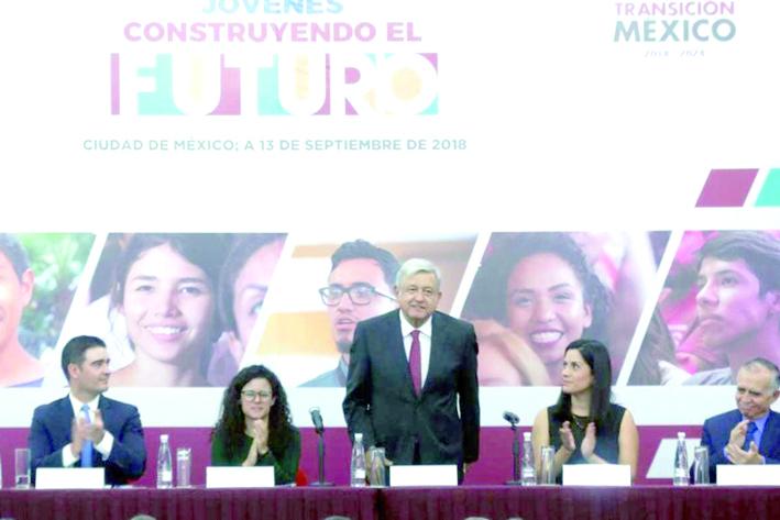 López Obrador presenta programa 'Jóvenes construyendo al futuro'