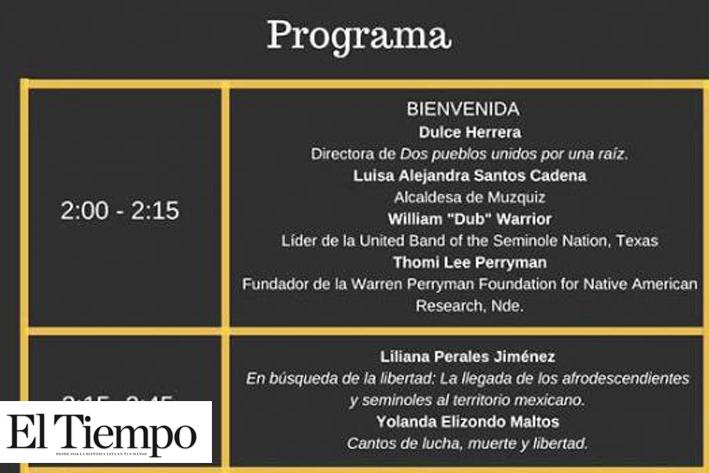 Participará en el Evento 'Black Seminoles Brackettville, Texas y Mascogos de El Nacimiento; Coahuila'