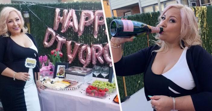 'Felizmente divorciada'': Mujer hace fiesta para celebrar su divorcio