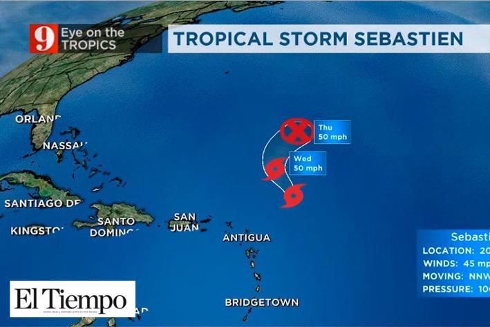 Se forma la tormenta tropical Sebastien