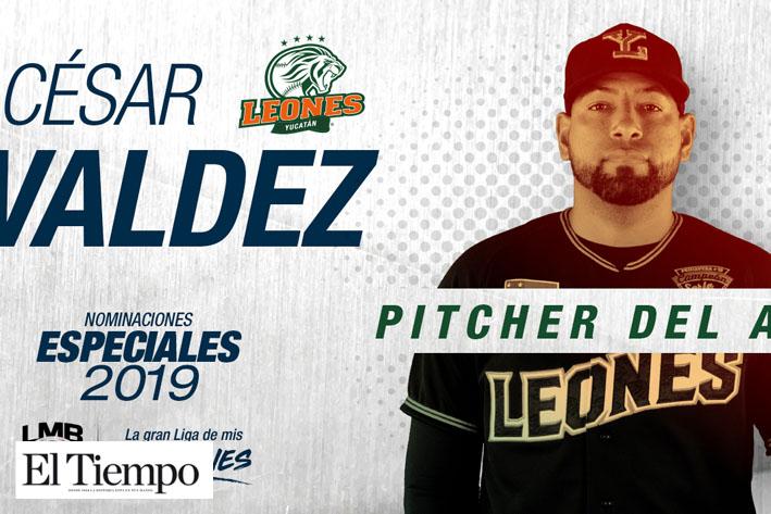César Valdez pitcher del año