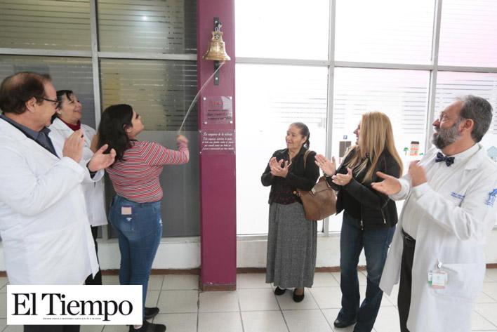Campana de la vida, símbolo de la  lucha contra el cáncer en Coahuila