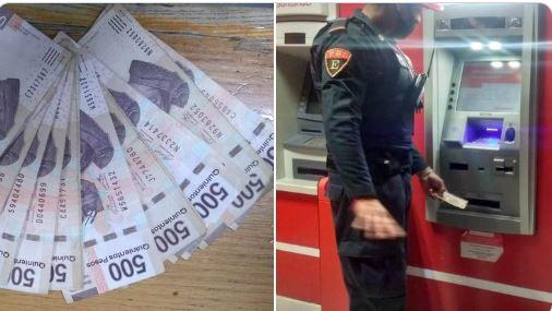 Policía devuelve varios billetes de 500 que halló en un cajero