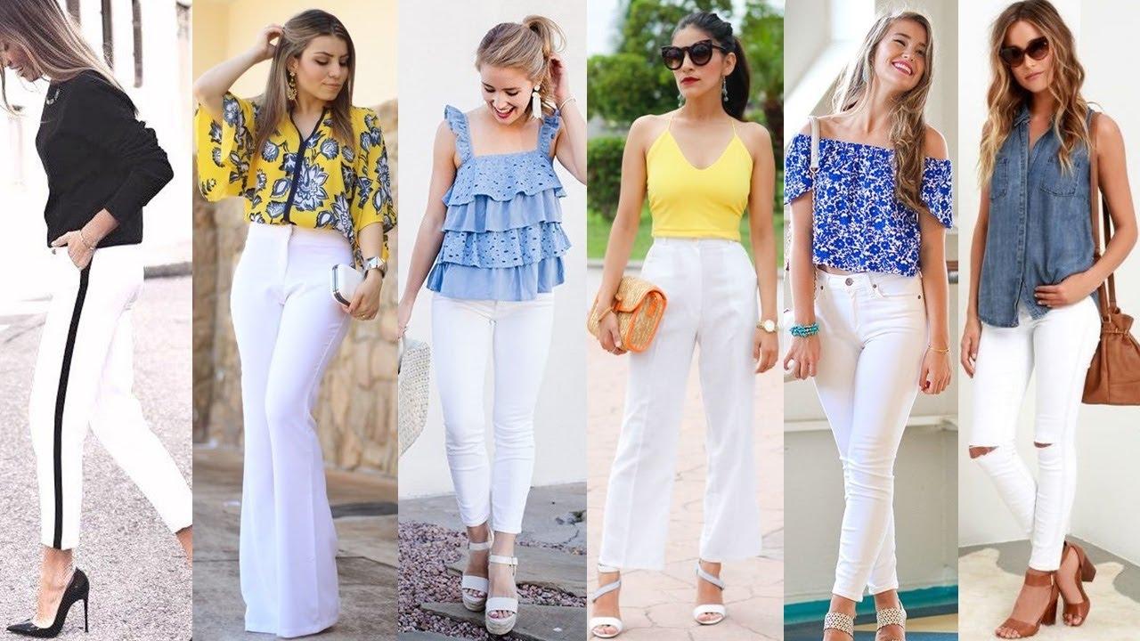 Pantalones blancos en verano, como combinarlos