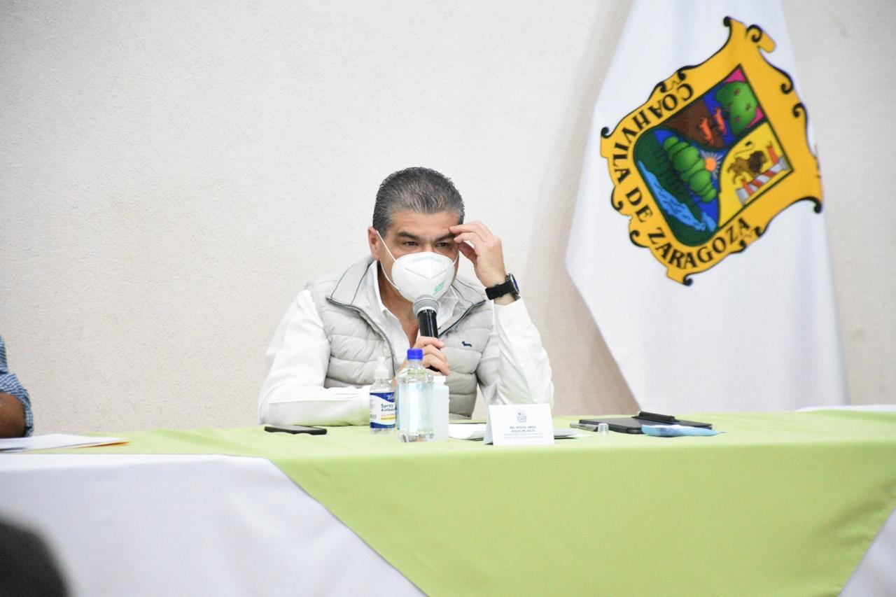 Riquelme visita Monclova para analizar situación sobre COVID-19