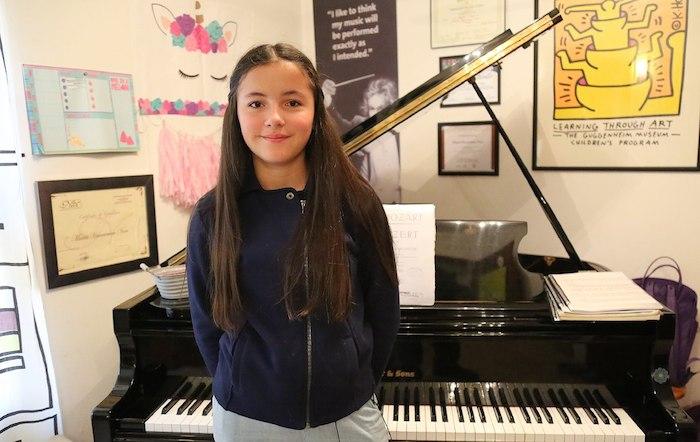 Joven pianista María Hanneman espera ir a Salzburgo a tocar