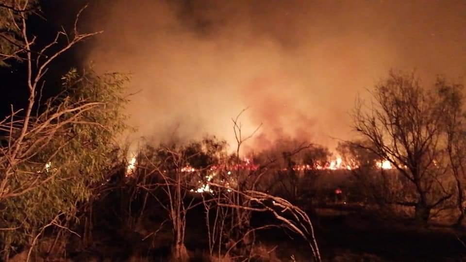 Incendio consume 9 hectáreas de pastizal en Cuatro Ciénegas