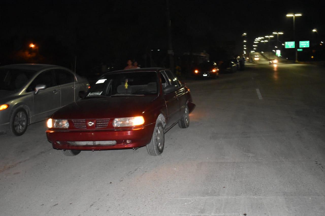 Carambola en puente del Pape deja al menos cinco vehículos dañados