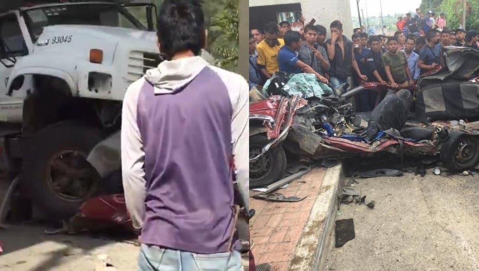 Camión del IMSS embiste varios vehículos, se quedó sin frenos