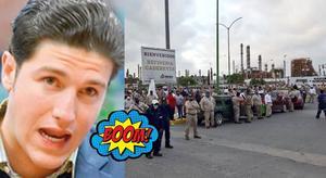 El senador de Movimiento Ciudadano, intentó clausurar de manera 'simbólica' la refinería en Cadereyta