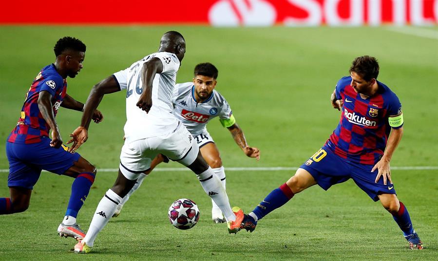 Barcelona venció 3-1 a el Nápoles