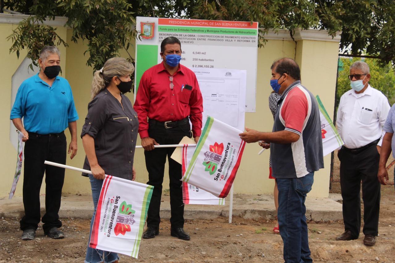 Banderazo a obras en Pueblo Nuevo