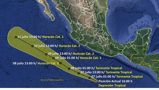 Tormenta tropical Julio se forma al sur de las costas de Guerrero en México