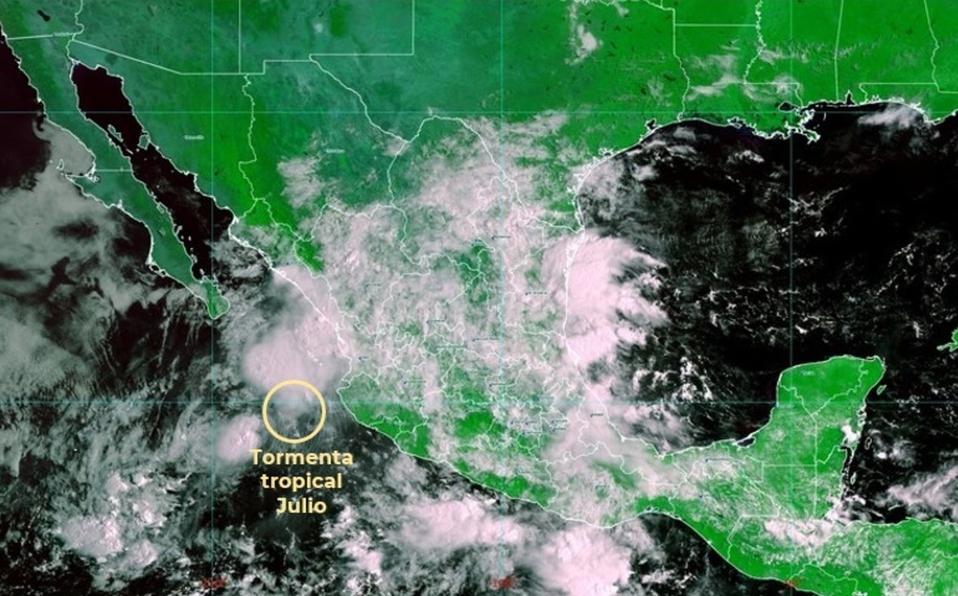 Tormenta tropical 'Julio' provoca fuertes lluvias en 3 estados