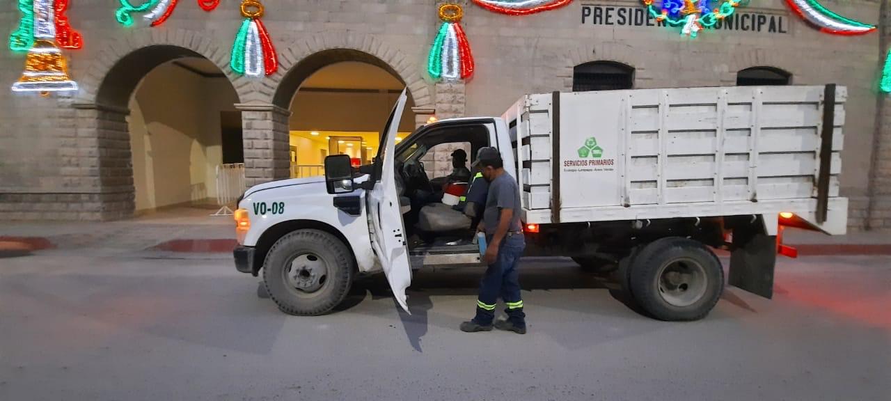 Sanitizan unidades de limpieza previoa sus labores