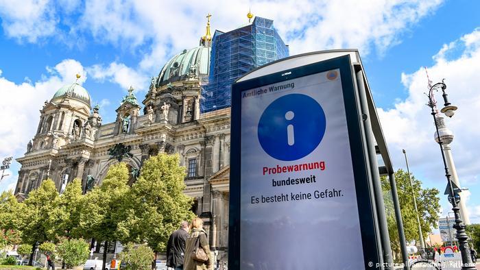 Deficiencias en primer simulacro emergencia nacional en Alemania reunificada