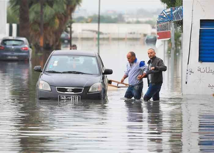 Al menos dos personas muertas por las lluvias torrenciales que azotan Túnez