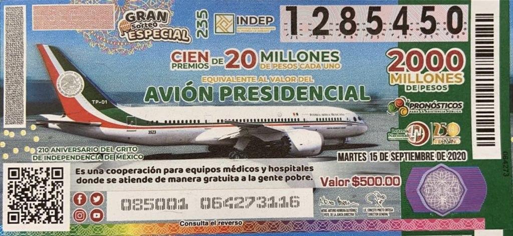 Ganan premio de rifa del avión presidencial en hospital de Zacatecas