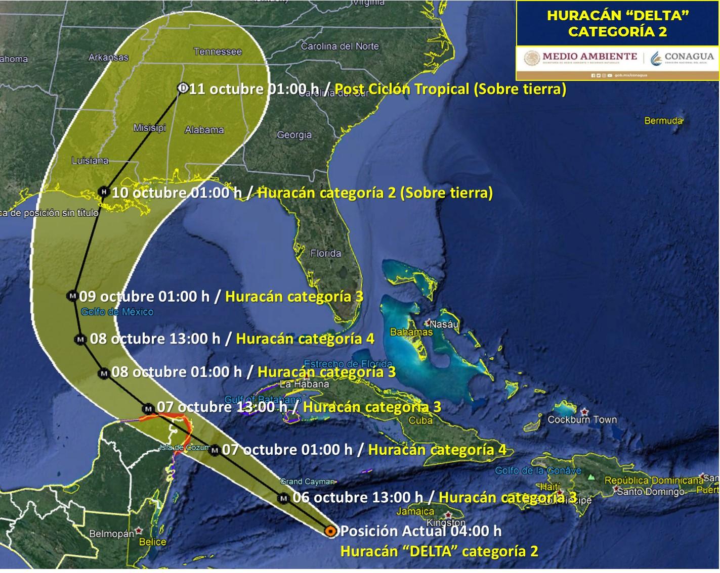 El ojo del huracán 'Delta' ya tocó tierra en México