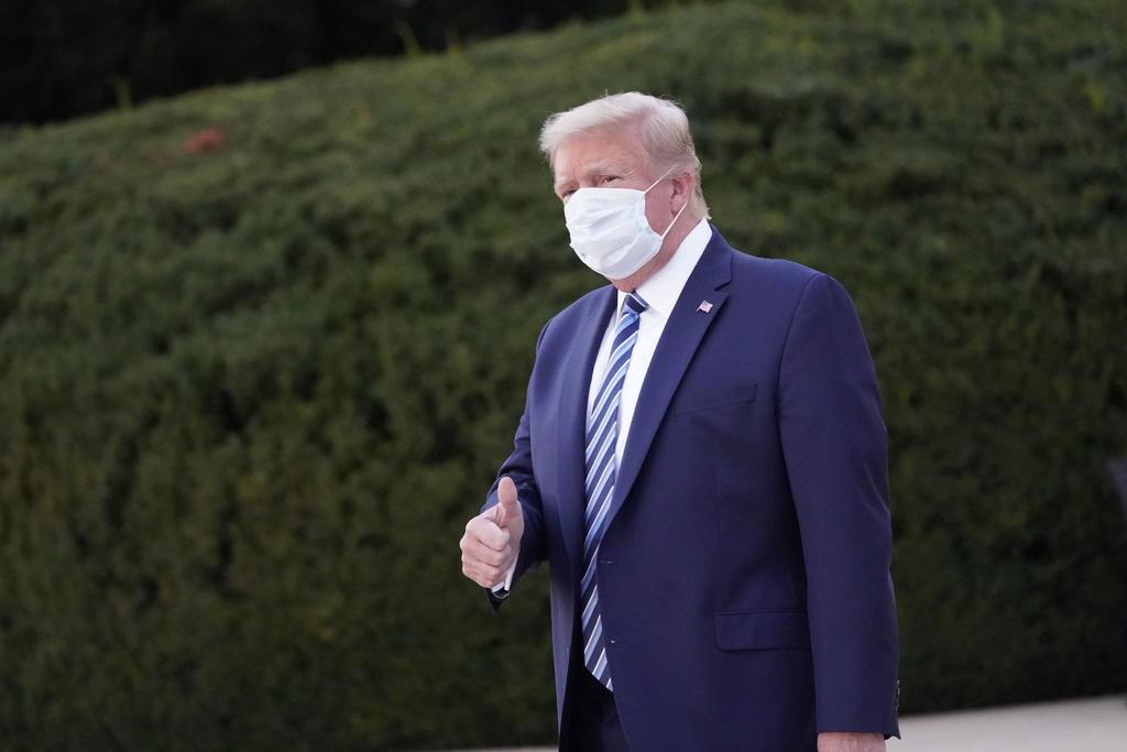Trump podrá realizar actos públicos el sábado: médico
