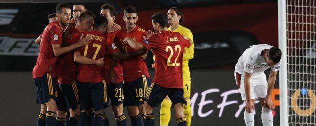 Apretado triunfo de España ante Suiza