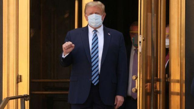 Donald Trump da negativo en su prueba de COVID-19