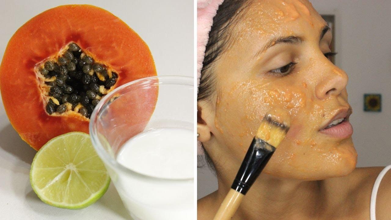 Mejora tu rostro y pelo con mascarilla de papaya