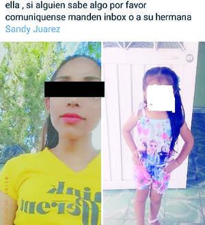 Reportan desaparición de  madre e hijo en Ciénegas