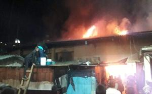 EL mercado municipal en Veracruz se incendió