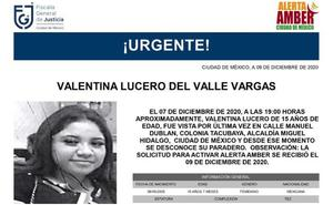 Desaparece menor de 15 años en Tacubaya