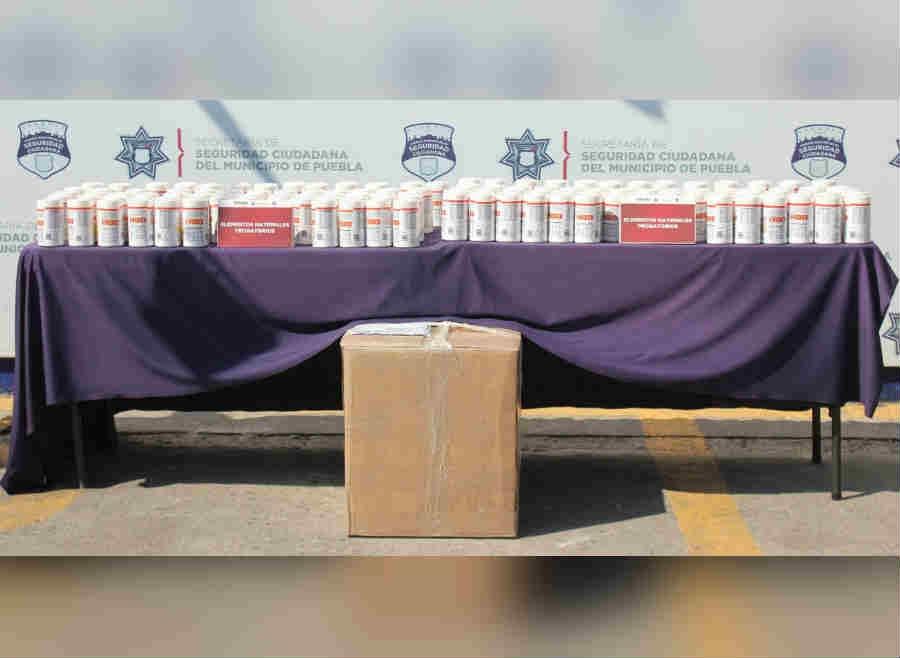 Decomisan 42 kilos de fentanilo en Puebla
