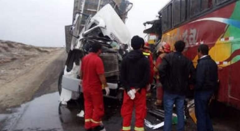 Tres muertos y once heridos en accidente de bus en región amazónica de Perú