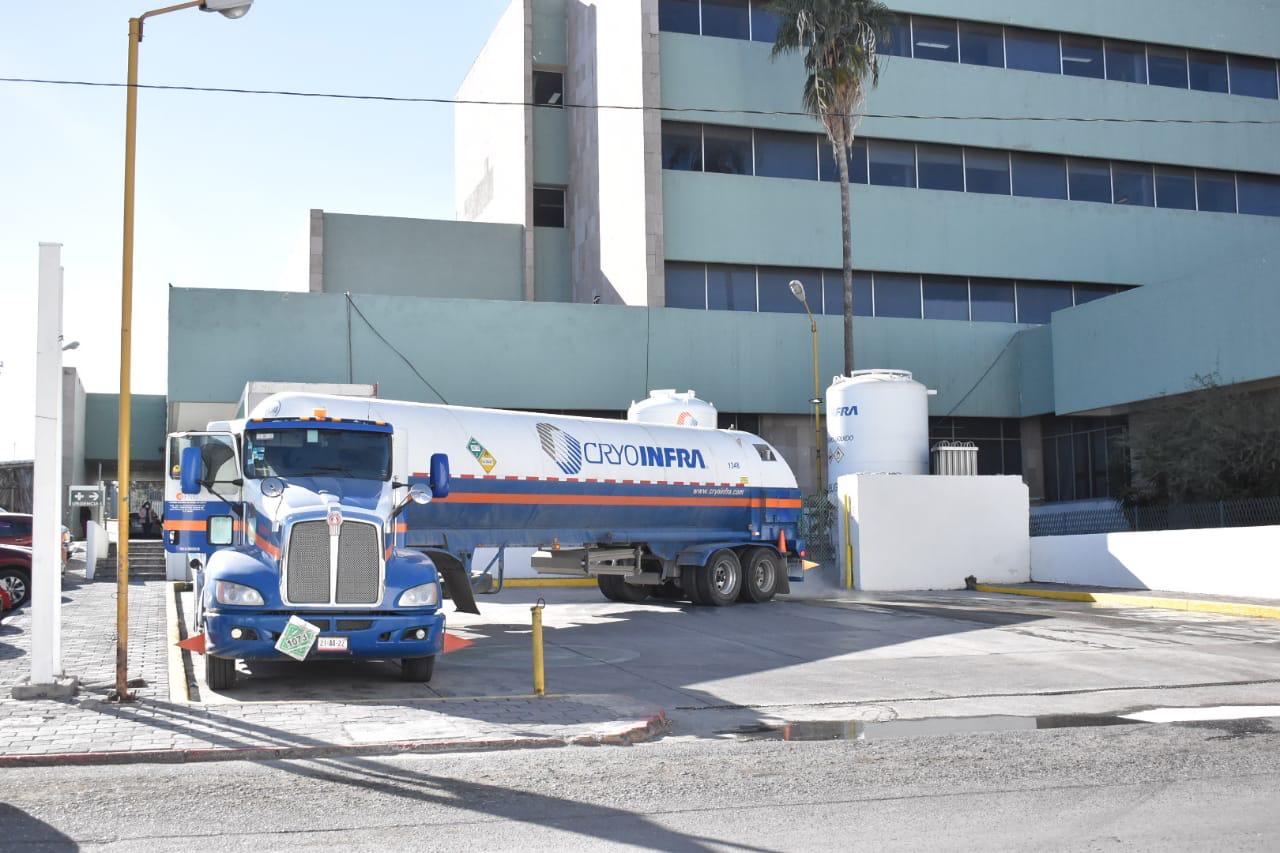 Se eleva el consumo de oxígeno en el hospital Covid de Monclova