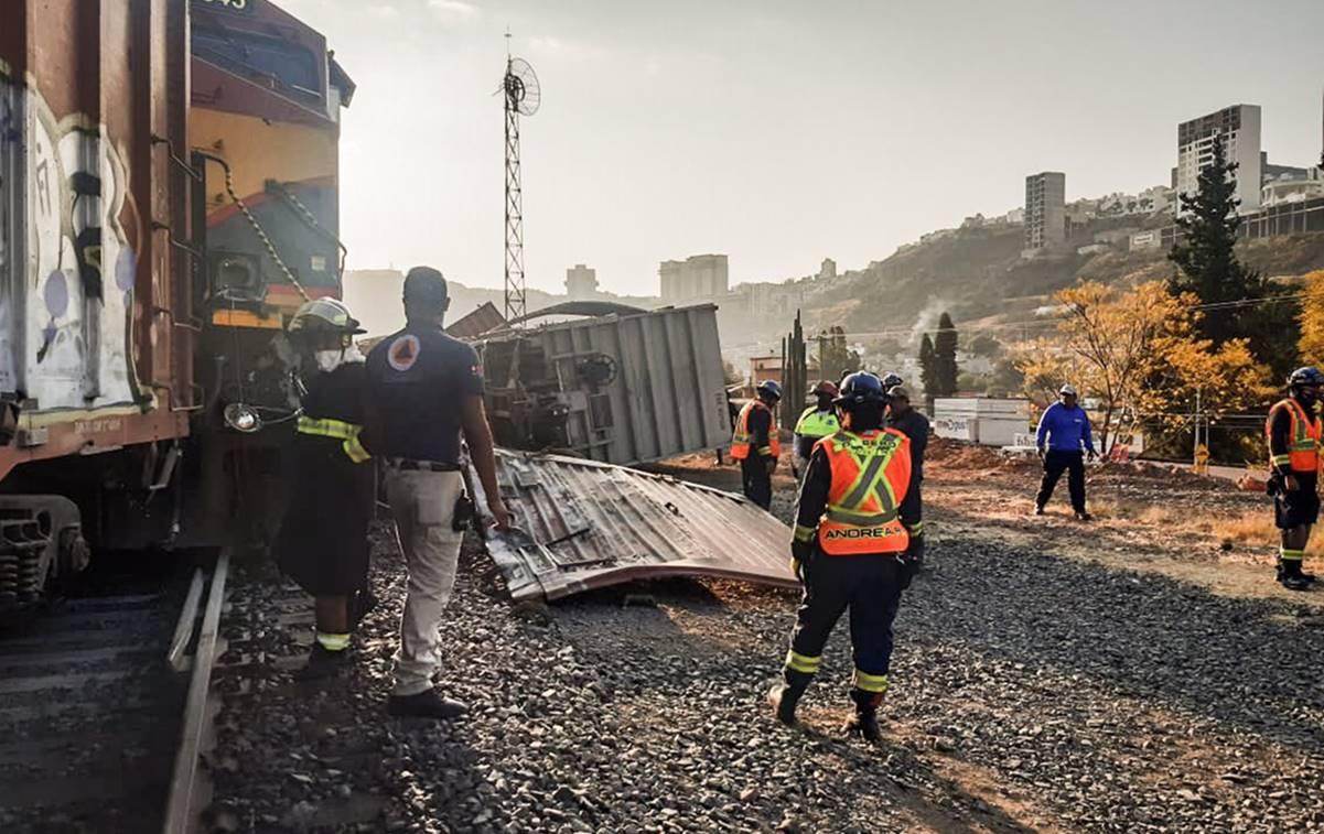 Se descarrila tren en la ciudad Querétaro