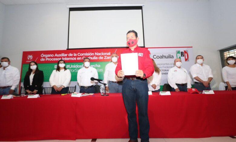 Se registran aspirantes del PRI a diputaciones federales en Coahuila