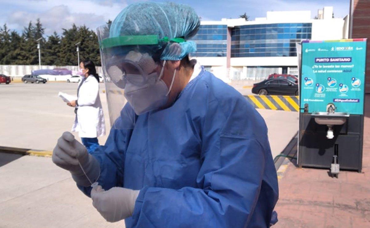 Detectan más de 63 mil casos de COVID por pruebas rápidas en Edomex