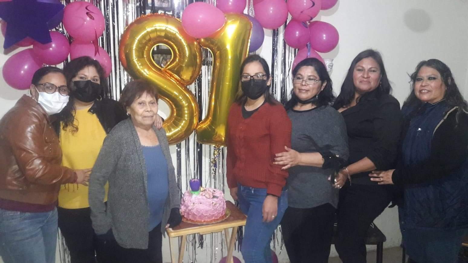 Doña Juanita  celebra 81 años de vida en Monclova