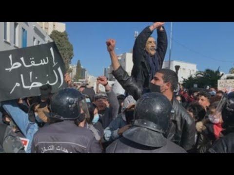 El movimiento popular de protesta 'anti-elites' se asoma a la calle en Túnez