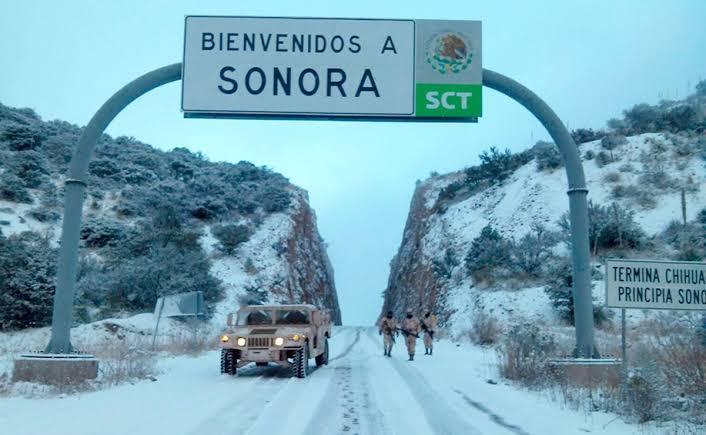Abren tráfico vehicular entre Sonora y Chihuahua tras heladas