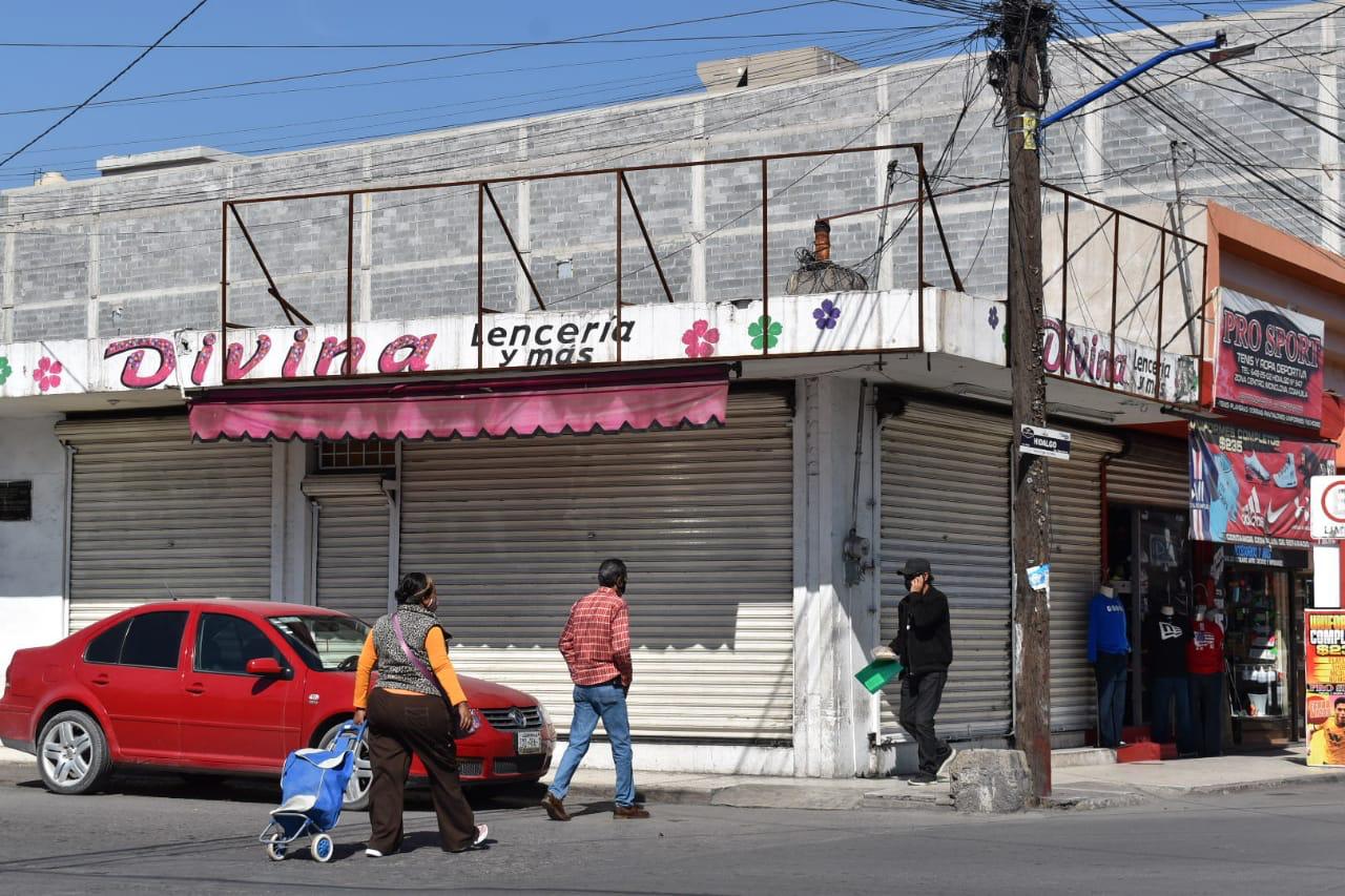 Agonizan comercios de Monclova por la crisis económica