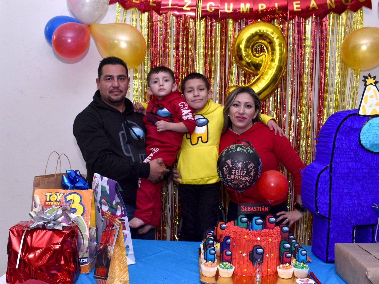 Sebastián festeja su cumpleaños número 9 en Monclova