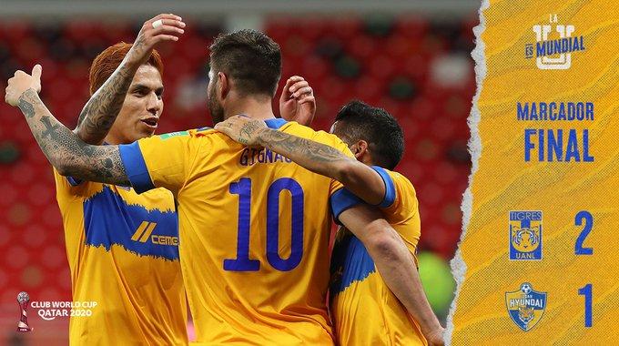 Sigue el sueño de Tigres; gana 2-1 al Ulsan en Mundial de Clubes