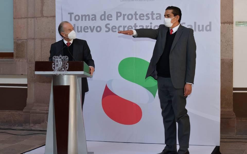 Ángel Lutzow toma protesta como nuevo titular de Ssa en SLP
