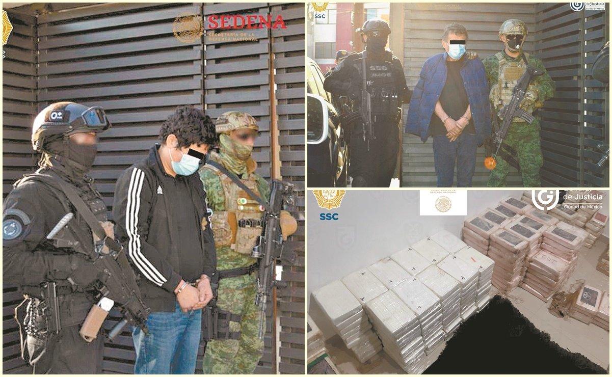 Golpe al narco; decomisan 803 kg de coca en Tlalpan