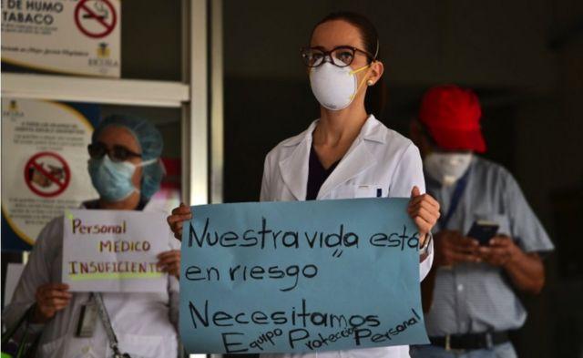Exigen médicos hondureños equipo de protección y vacunas anticovid-19