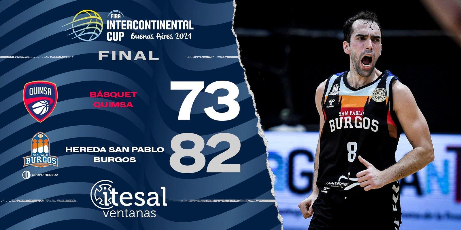 El San Pablo Burgos conquista la Copa Intercontinental (73-82)